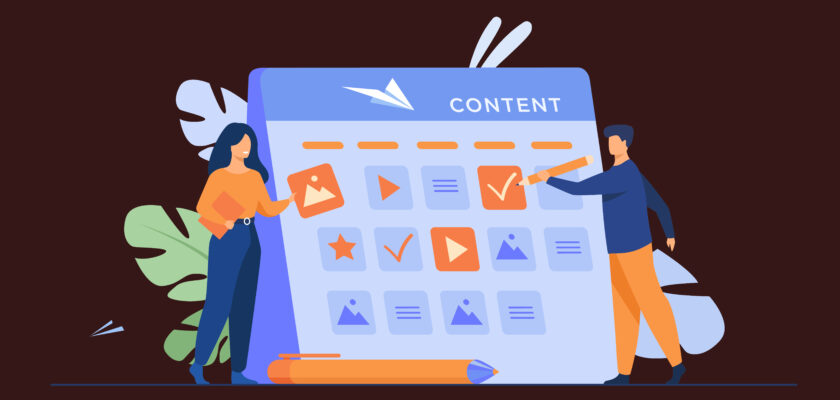 Create a content plan.